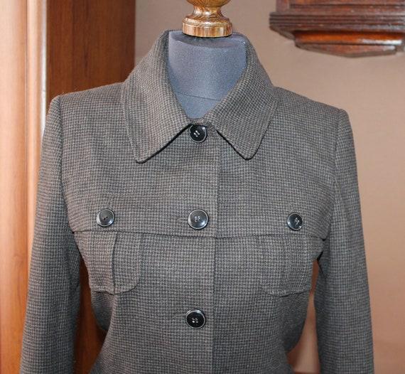 Dark academia jacket Vintage houndstooth blazer wo