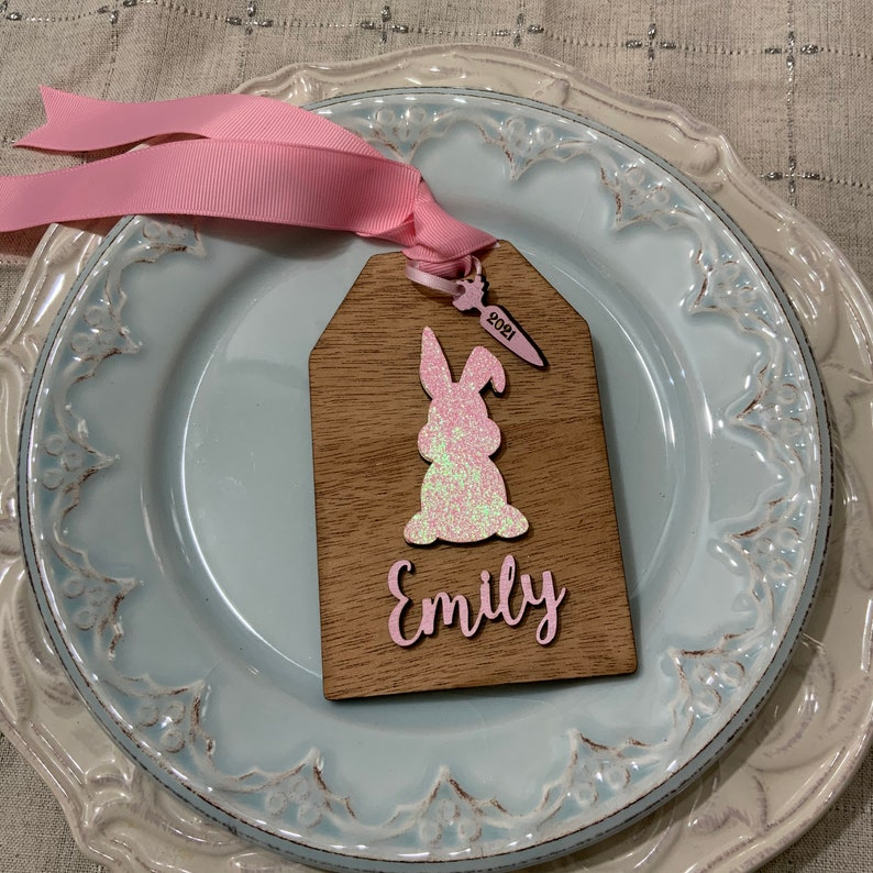 Easter tags Easter placecards Easter bunny Easter basket tags