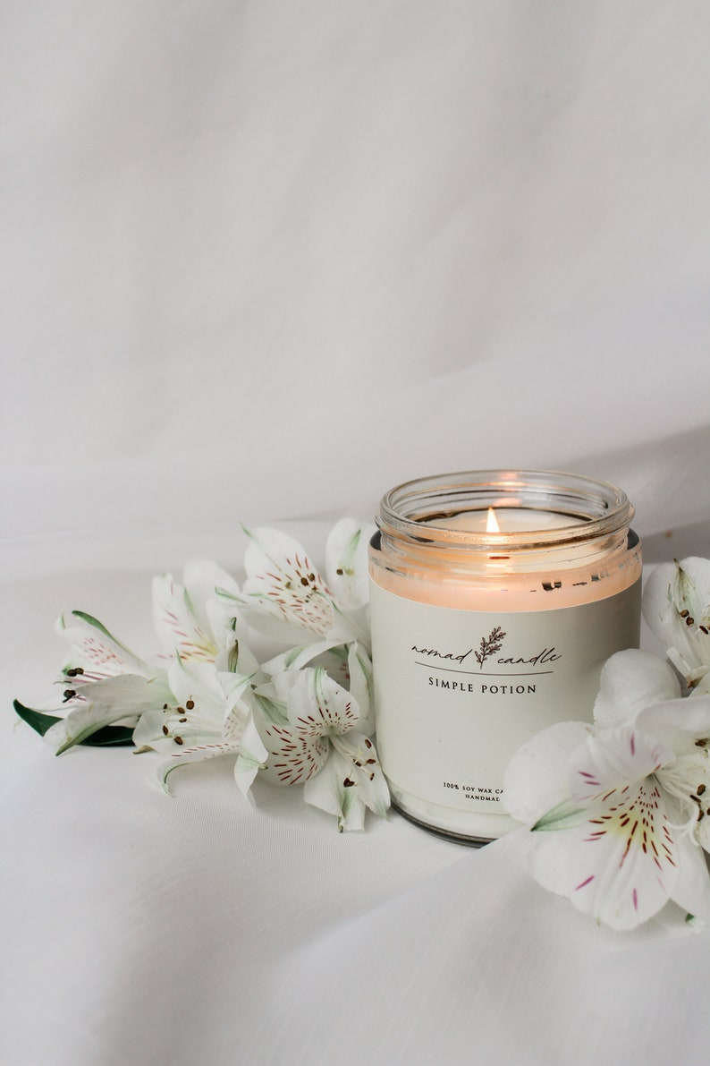 Simple Potion Scented Candle Flower Fragrance Vegan Soy image 1