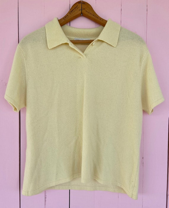 Vintage Butter Yellow Cashmere Lord & Taylor Sweat