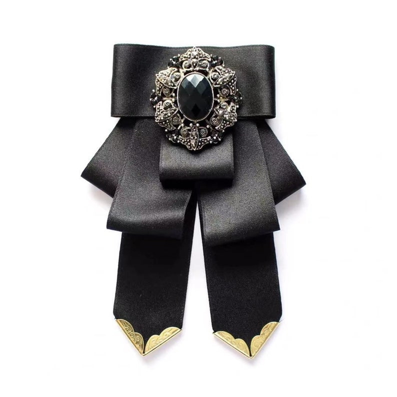 Men\u2019s Bow Tie Necktie Rhinestone Bowtie Brooch High Quality Luxurious BowTie Luxury party Bridegroom King Graduation Wedding Photo Video