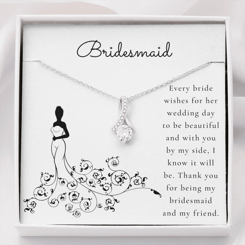 Alluring Beauty Bridesmaid Pendant Gift from Bride to Bridesmaid