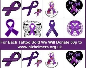 Alzheimer's  Awareness Temporary Tattoos