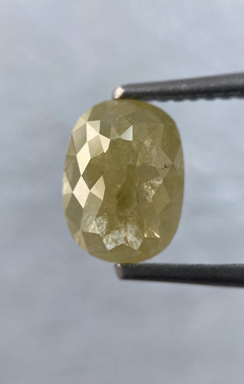 2.16 Carat Weight  Natural Loose Diamond salt and pepper Diamond  Oval shape Diamond Pair for Diamond Earring or Diamond ring  8.25X 6.14 MM