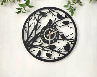 R/étro Horloge Murale Cr/éative Mute Horloge /À Quartz Art Horloge Vivante D/écoration Chambre TZXSHO