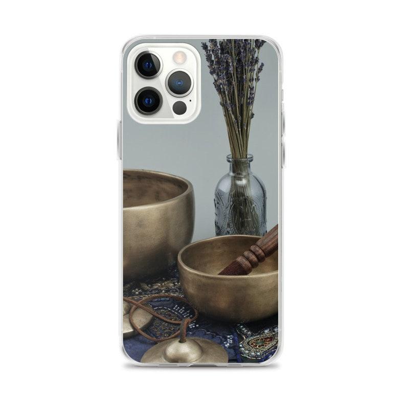 Chimes Sound Healer iPhone Case Namaste Gifts Sound Healer Gifts Feel Good Gifts 432 Good Vibes Loving Gifts Singing Bowls