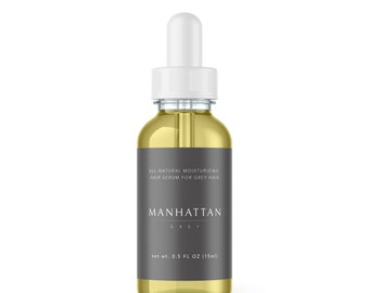 Grey Hair Vegan Scalp Serum .5oz   Soften and Hydrate Fine Grey Hair   Apricot + Peppermint Oil and Lavender