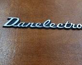 Danelectro silver logo 3d letters 152mm