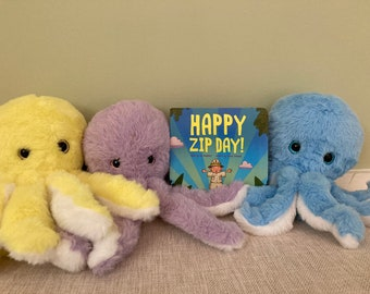 Book PLUS an octopus- chose your color!