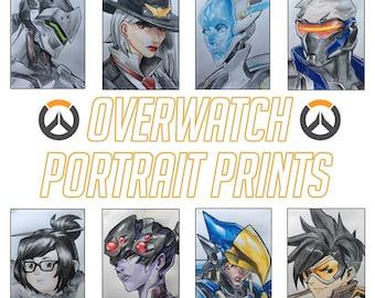 Overwatch Portrait Prints [DAMAGE]