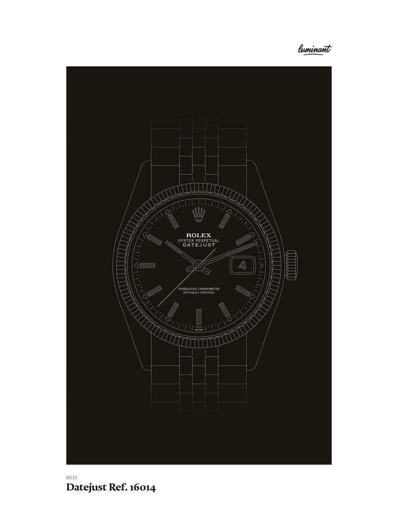Rolex  Datejust Ref. 16014 White outlines