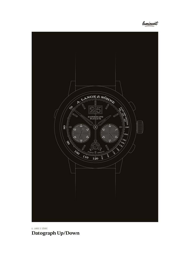 A. Lange & Söhne  Datograph Up/Down White outlines