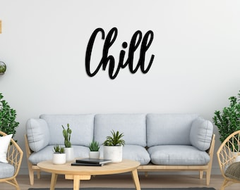 Relax Vacation Palm Trees Birds Island Word Chill Zone Bedroom Wall Sticker Decal Vinyl Mural Decor Art L2285