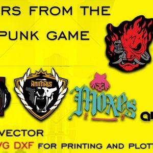 Ai PNG Transparent Background Cyberpunk 2077 Stickers Layered Svg,Cdr Pdf Cyberpunk 2077 stickers