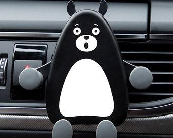 Mobile phone holder cartoon, car navigation stand out, car phone holder, car ornament, car accessories vent, cute car ornaments.