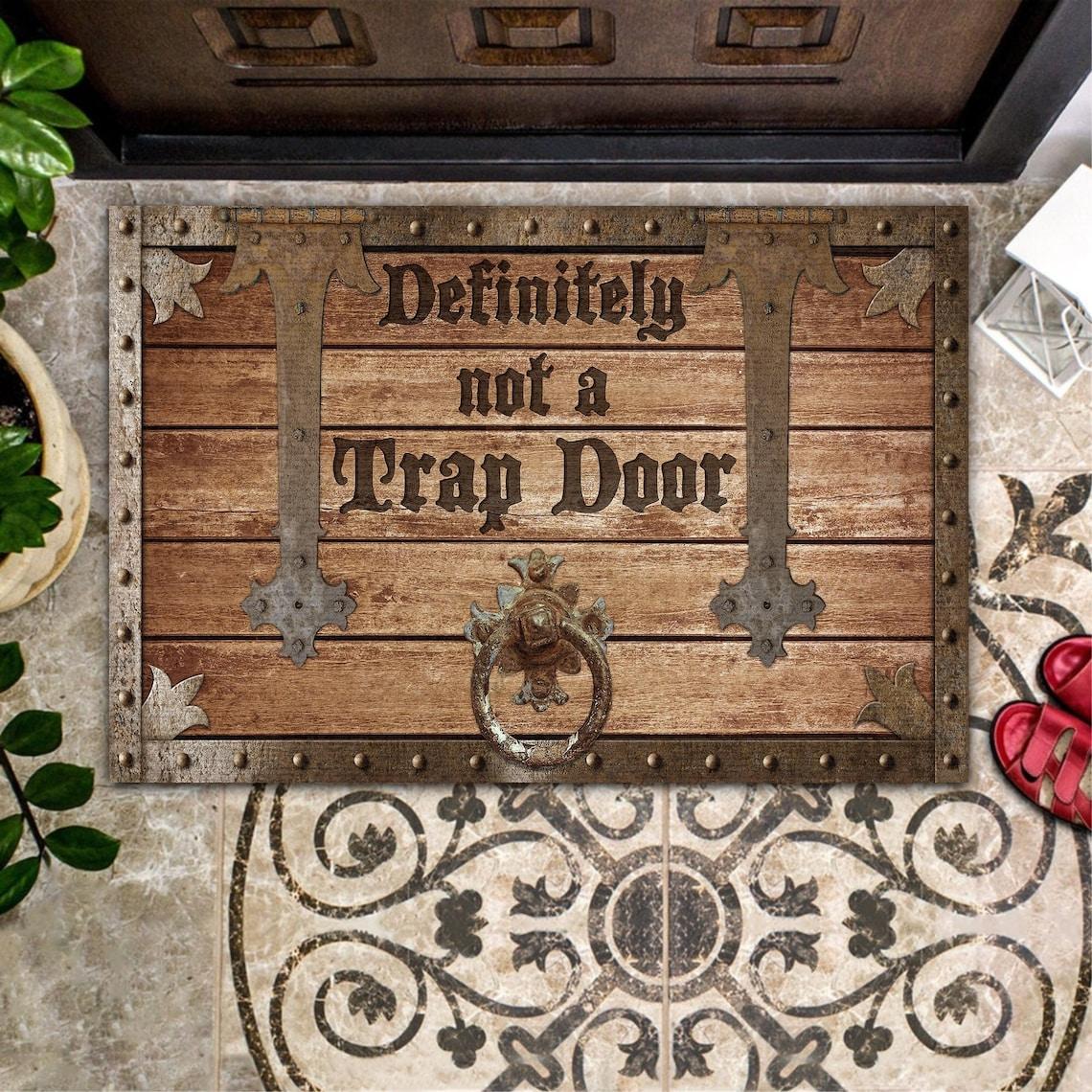 Funny Doormat Goth Decor Fall Doormat Halloween Home Decor image 0