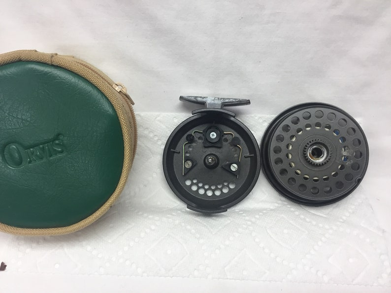 Vintage Orvis Madison IV Disc Fly Reel with Backing Line and Orvis Case