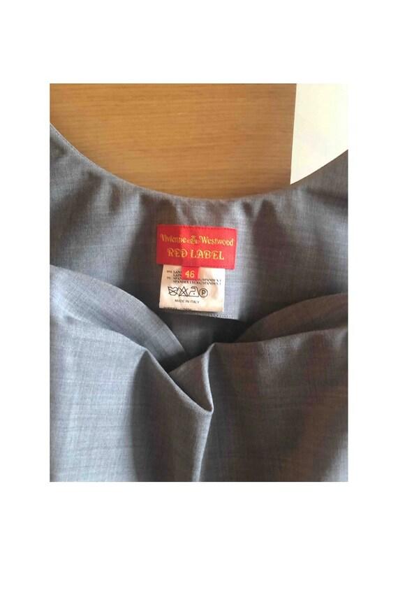 Vintage Vivienne Westwood Red Label Cowl Neck Cor… - image 3
