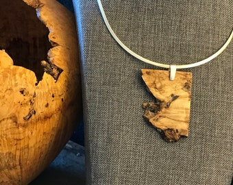 Malachite Trees Bird Handmade Wood Jewelry Necklace Eagle Hawk Nature Wooden Beyond the Forest Box Elder Pyrography Pendant