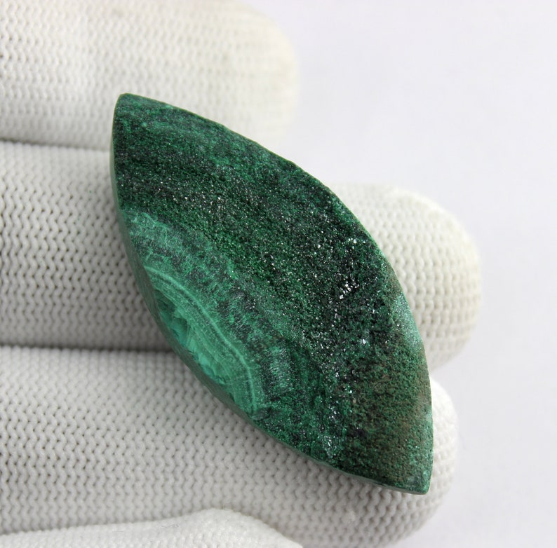 Ct Natural Beautiful Design  Malachite Druzy Marquise Shape Malachite Loose Gemstone Healing Gemstone For Making Wire Wrapped Code#A301 79