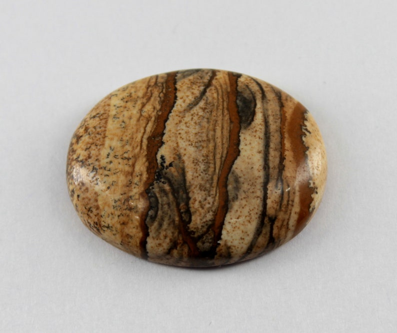 43.00  Carat Beautiful Picture Jasper Oval Shape Picture Jasper Loose Gemstone Jasper Gemstone For Making Wire Wrapped/&Jewelry Code#A351