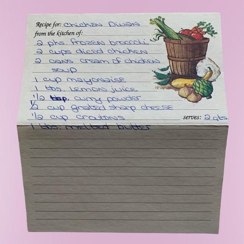 Junk Journal Supplies Vintage Ephemera Pack Journal Paper Vintage Recipe Cards Handwritten  Vintage Ephemera