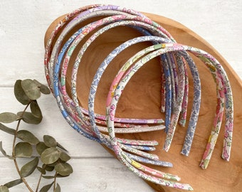 Liberty thin hairbands -  Liberty of London - adult and children's thin headbands hairbands alicebands hair accessories