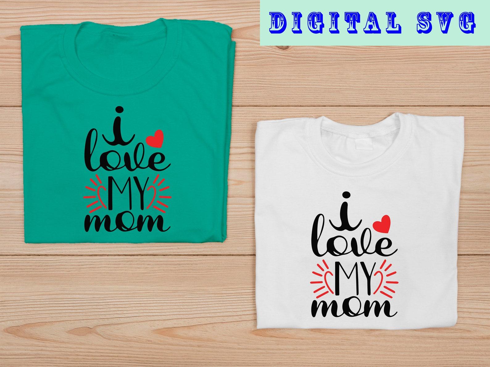 Ich liebe meine Mutter Svg Muttertag Svg rotes Herz Mama