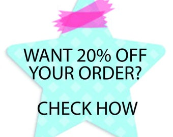 Coupon for a 20% discount when purchasing 2 or more items from the LentiskDolls store