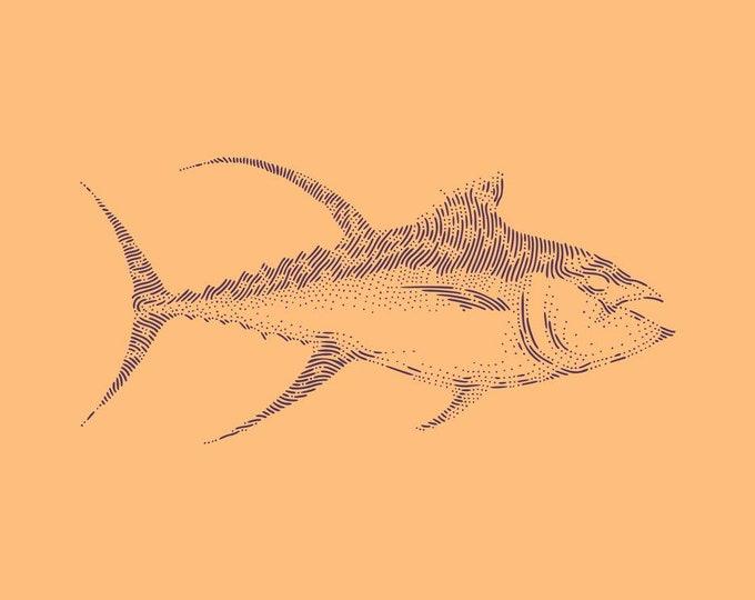 Yellowfin tuna · Hand-drawn vector illustration