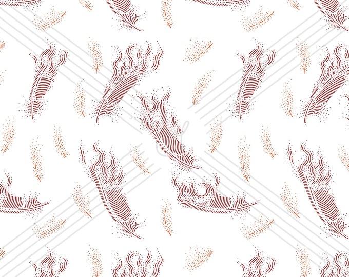 Phoenix feathers · Hand-drawn vector pattern illustration
