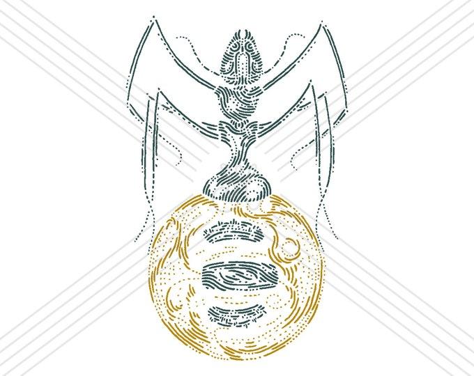 Honeypot ant · Hand-drawn vector illustration