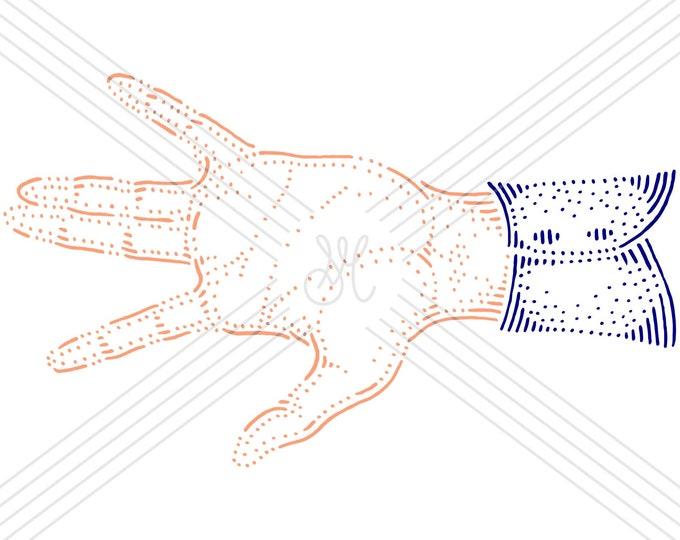 Hand #11 · Hand-drawn vector illustration