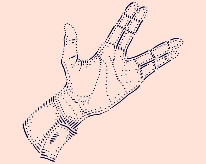Hand #10 · Hand-drawn vector illustration
