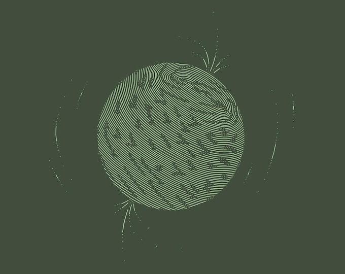 Neutron star · Hand-drawn vector illustration