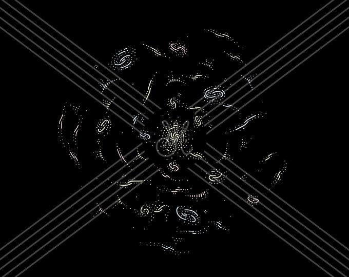 Galaxy cluster · Hand-drawn vector illustration