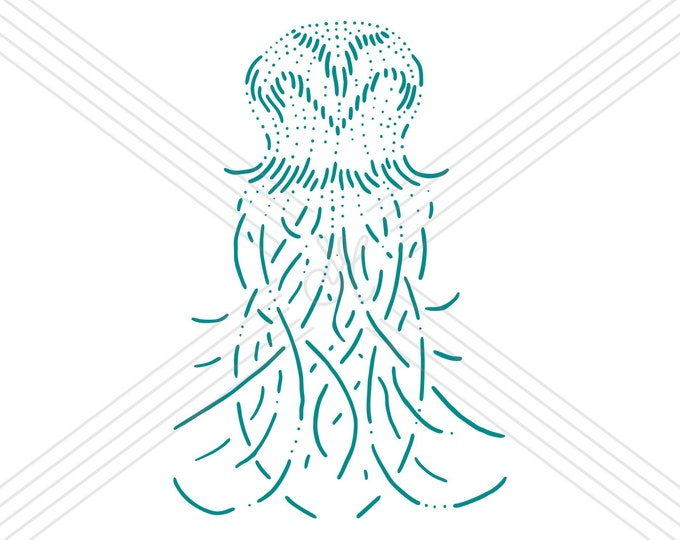 Jellyfish #2 · Hand-drawn vector illustration