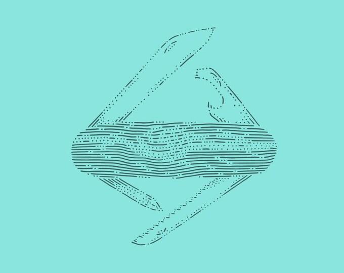 Swiss knife · Hand-drawn vector illustration
