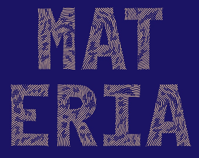 Materia · Hand-drawn all caps font