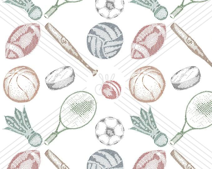 Sports · Hand-drawn vector pattern illustration