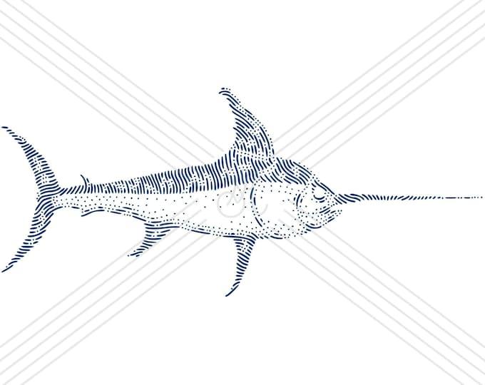 Swordfish · Hand-drawn vector illustration