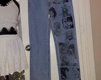 Anime Jeans Etsy