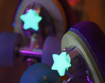 Roller Skate Toe Plugs: Glow In The Dark STARS