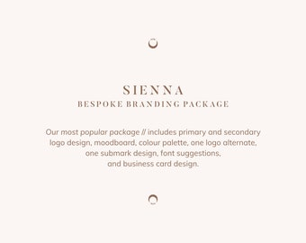 Bespoke Brand Package: Sienna // our most popular design package, custom designed branding package