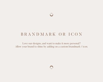 Add-on: Brandmark or Icon for Pre-made Logos and Custom Work
