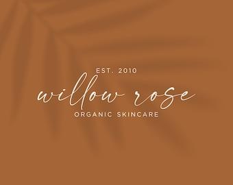 Willow Rose Premade Logo, Ready Made Business Branding, Modern Minimalist Feminine Logo Design for Skincare Photographer Boutique Branding