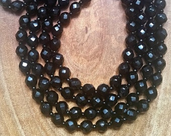 rectangular 4 holes black glass lot of 10 shuttle pearl of old jementerie in Paris