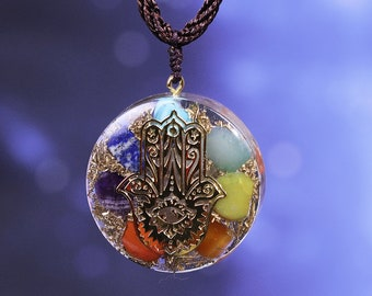 Golden Hamsa hand charm Filigree raw brass pendant Healing hand Protection symbol 1Pc F091