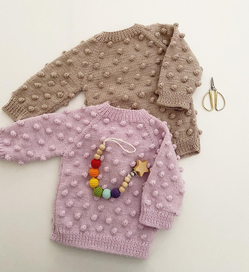 Handknit Sweater Handmade Pullover for Baby,Wool Knitted Sweater Baby Sweater