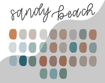 SANDY BEACH procreate palette/instant download